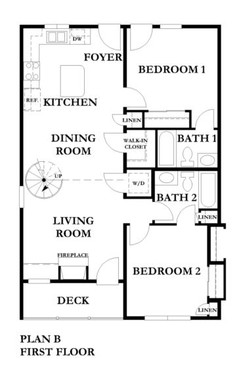 3 Bedroom Main Level Floorplan