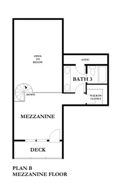 3 Bedroom Loft Level Floorplan